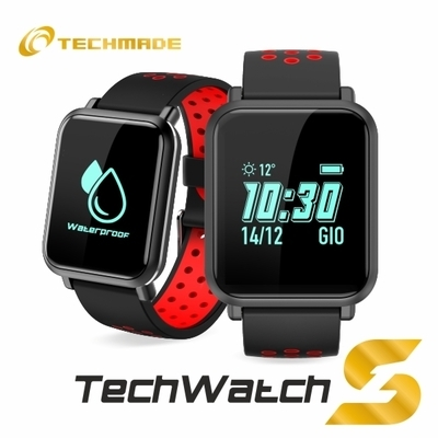 TECHMADE SMARTWATCH TECH WATCHS1-RED
